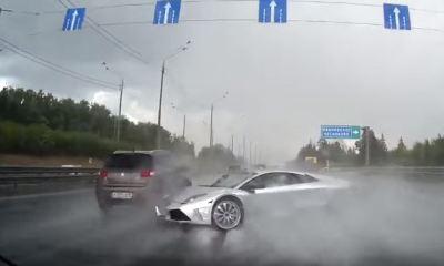 Lamborghini Murcielago crash- Russian dashcam