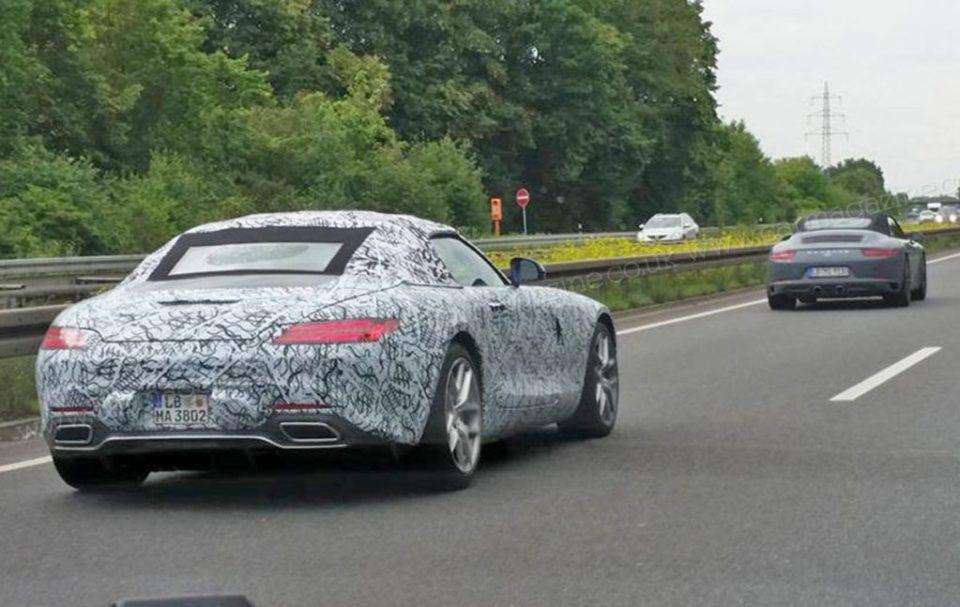 Mercedes-AMG GT Roadster spy shots-1