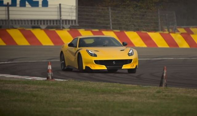 Chris Harris drives the Ferrari F12tdf at Fiorano