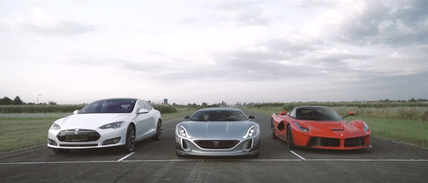 Rimac Concept One vs Ferrari LaFerrari