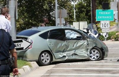 Toyota Prius involved in Kris Jenner's Rolls Royce crash