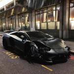 Lamborghini Aventador SV Roadster crashed in London-2
