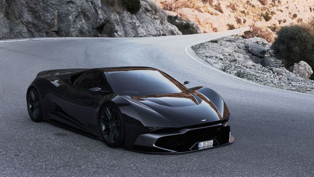 Mid-engine Aston Martin Vulcan concept-Adrien Fuinel-1