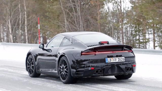 2019 Porsche 911 spy shots-tail lights