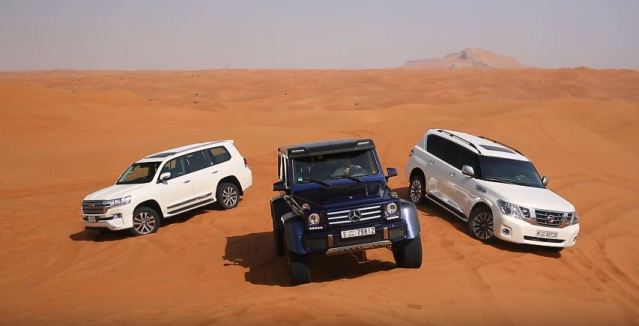 Mercedes-Benz G500 4x4 vs Toyota Land Cruiser vs Nissan Patrol