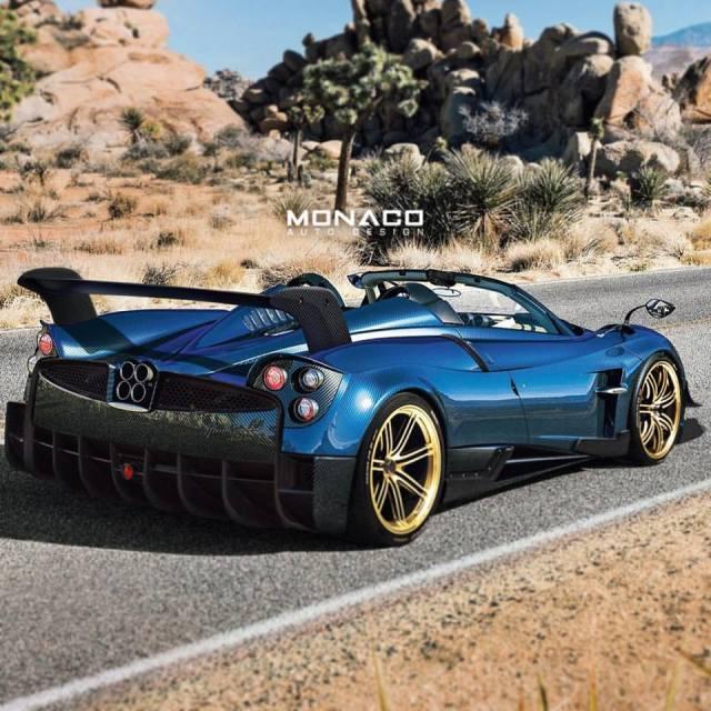 Pagani Huayra Roadster: Pagani Huayra BC Roadster Rendered By Monaco Auto Design