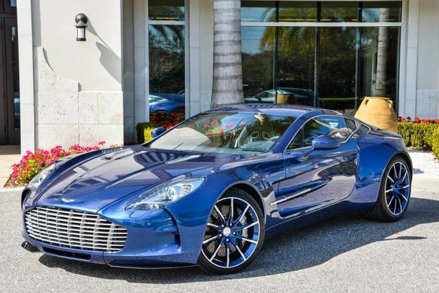 home aston martin striking blue aston martin one 77 for sale in. Black Bedroom Furniture Sets. Home Design Ideas