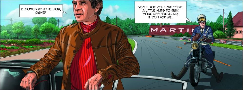 Steve McQueen-Le Mans-Graphic Novel by Sandro Garbo-4