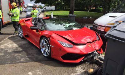Rental-Lamborghini Huracan Spyder-Crash-Birmingham-2