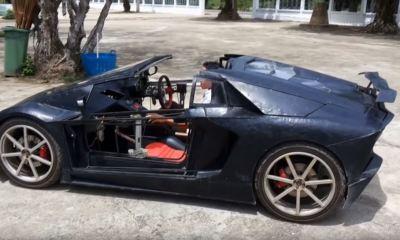 Miniature Lamborghini Aventador replica