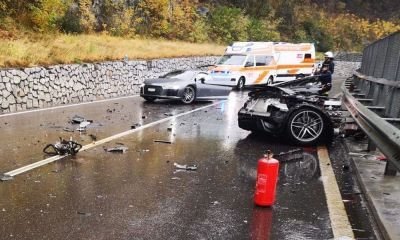 Audi r8 splits into two massive crash 04