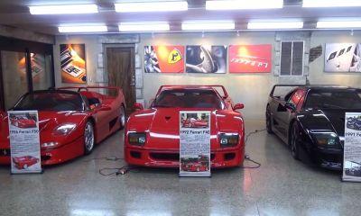 Ferrari themed mancave Phil Trigiani