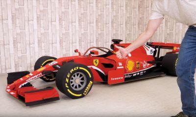 Cardboard Ferrari F1 car-DIY project