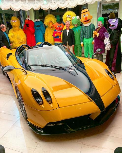 Yellow-Pagani Huayra Roadster Big Bird-Sparky18888-4