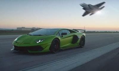 Lamborghini Aventador SVJ Fighter Jet Promo Video