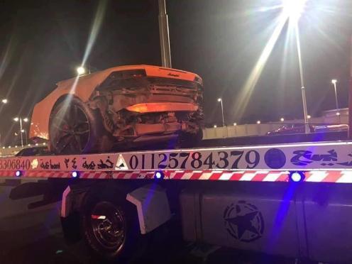Lamborghini Huracan Egypt Crash-3