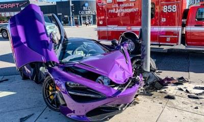 Violet-McLaren 720S crash-Los Angeles