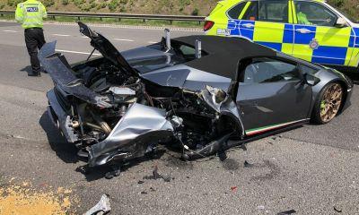 Lamborghini Huracan Performante Spyder-Crash-UK-1