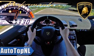 Lamborghini Huracan Performante-Autobahn-Top speed