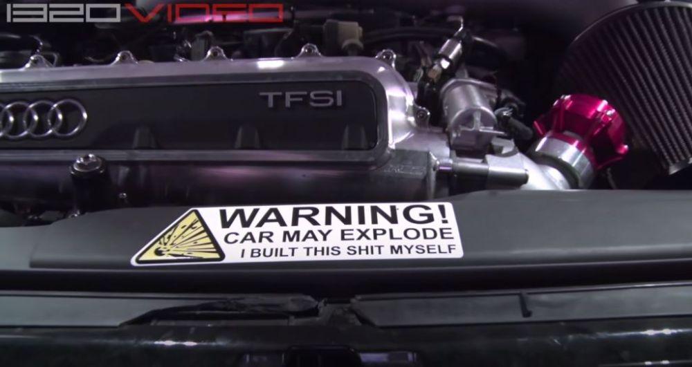 Audi RS3 Fire-1320videos