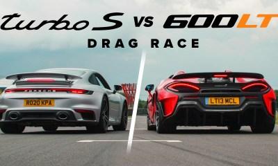 McLaren 600LT Spider vs Porsche 911 Turbo S