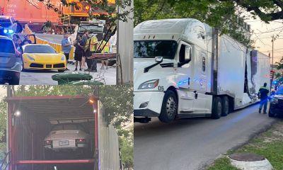 Houston Truck-Train accident-Ferrari SF90-1
