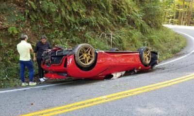 Ferrari 488 Pista Spider-crash-Tail of the Dragon-1