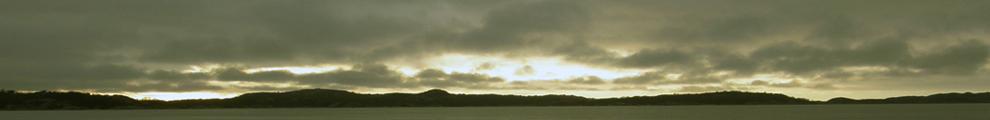Banner Sunset over islands