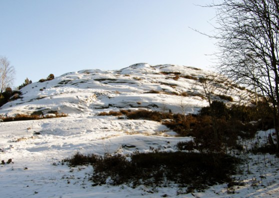 Snow on the quiet hill