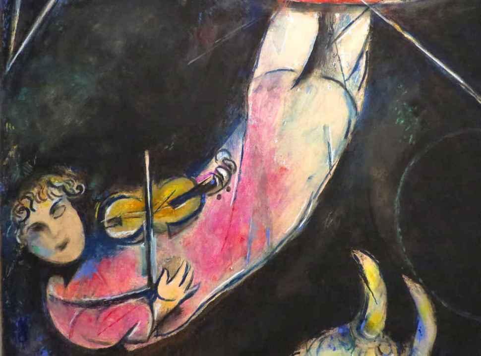 Flying Violinist (detail)