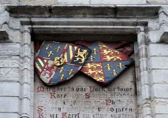 The arms of Margaret of York and Charles the Bold - Margaret of York's Palace, Mechelen