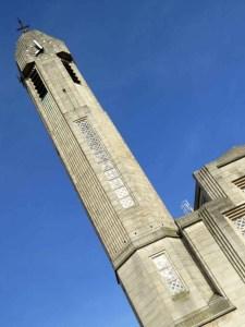 The minaret of the church of St John the Baptist Molenbeek