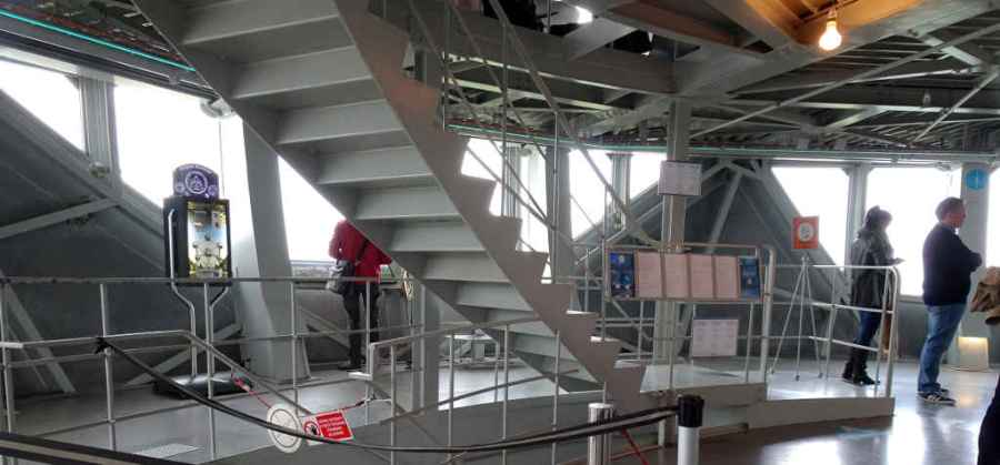 Flights of stairs at the Atomium