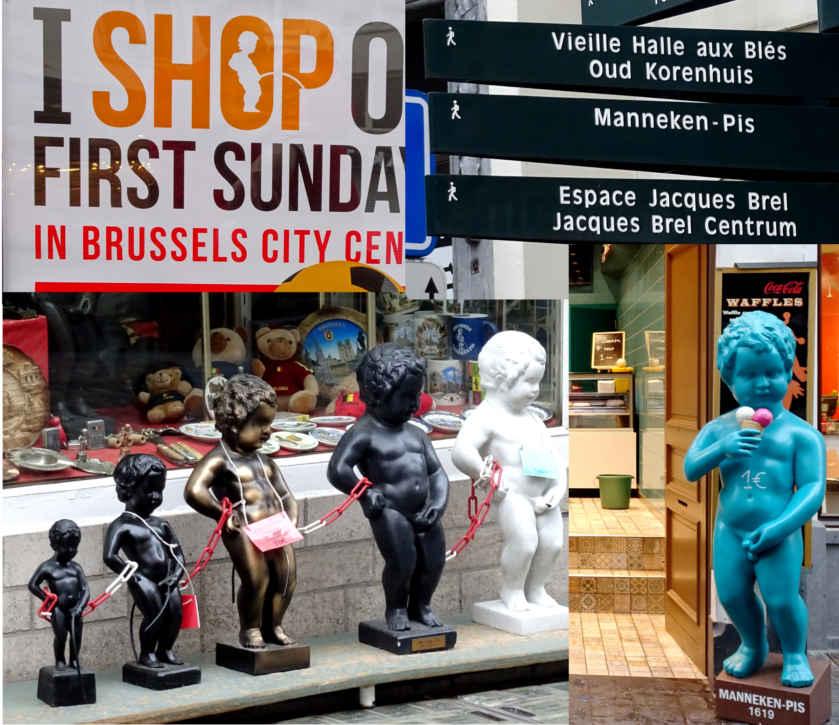 Manneken commerce collage