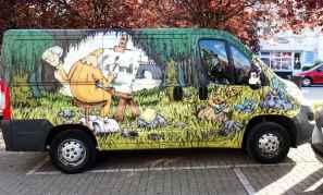 Brief return: Graffiti on a van