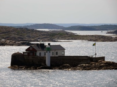 Lighthouse and keeper's cottage in Gothnburg's southern archipelago from Stena Danica