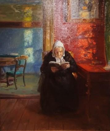 Skagen: Portrait of Ane Brøndum reading by her daughter Anna Ancher
