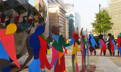 Schuman Roundabout sculpture from another angle