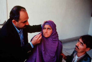Afghan Girl eyes examined
