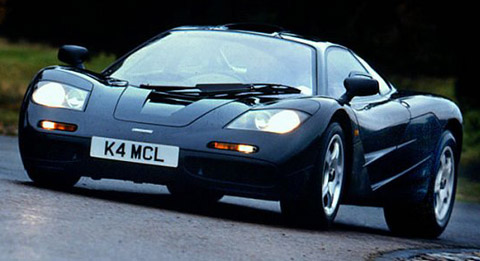 1997 McLaren F1 on the road black