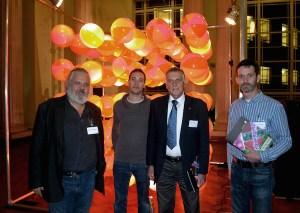 Mike, Ben and Dom with Nobel laureate Dan Shechtman