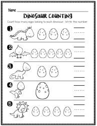 dinosaur worksheet