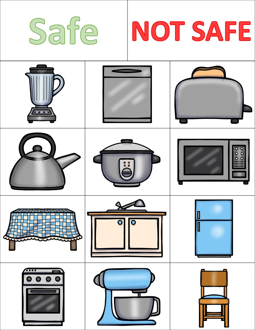 Kitchen Safety Worksheets and Activities Pack - The Super Teacher