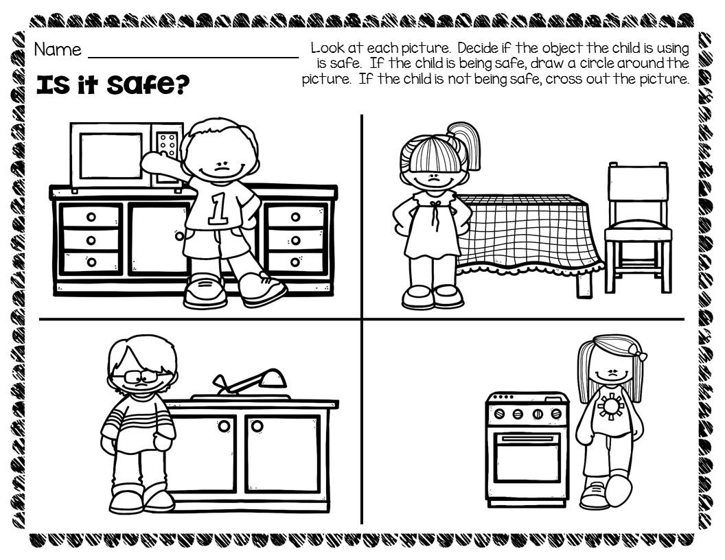 Worksheets. Safety Worksheets For Kids. Babyhunters Free