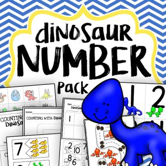 dinosaur number pack