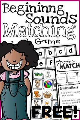 letter match game for preschool