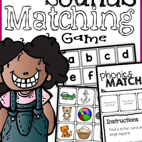 letter match game for preschool