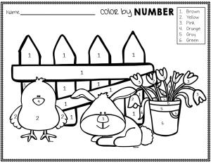 spring color by number the super teacher. Black Bedroom Furniture Sets. Home Design Ideas