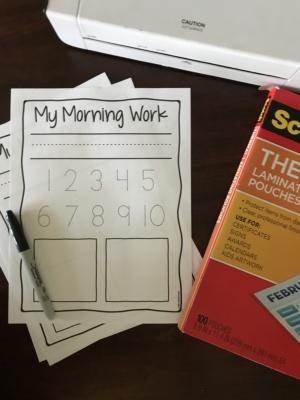 free preschool morning work reusable daily practice worksheet