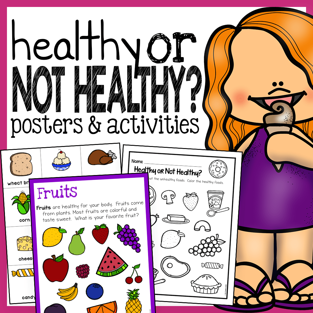 Healthy Foods Posters Worksheets And Activities